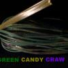 Gourd Purple Flake Head GP Purple Guard Green Live Rubber Candy Craw Silicone