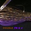 Brown Purple Flake Head Brown Purple Guard Brwon and Purple Live Rubber PB & J barbwire Silicone