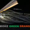 Brown Orange Head Brown Orange Weed Guard Natural Band Smoke Green/Orange Silicone
